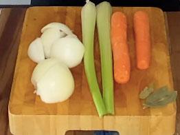 vegetales usados en el caldo de hueso